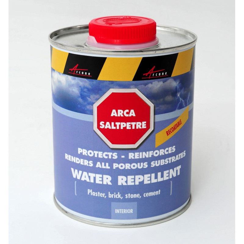 ARCASALTPETRE - Treat walls deteriorated by saltpetre and dampness, repair, restore and protect plaster, cement, concrete, natu