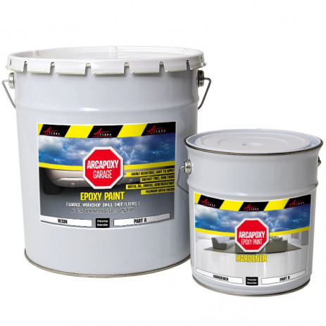ARCAPOXY GARAGE - Epoxy Paint, Floor and wall coating in garage, workshop, small shop floors, oil grease acid resistant