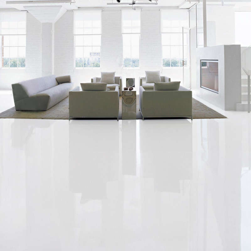 Epoxy Paint Floor And Wall Coating In Basement Living
